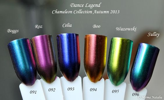 Dance Legend Chameleon Collection, Fall 2013. Multichromes include Dance Legend Boggs, Roz, Celia, Boo, Wazowski, and Sulley.