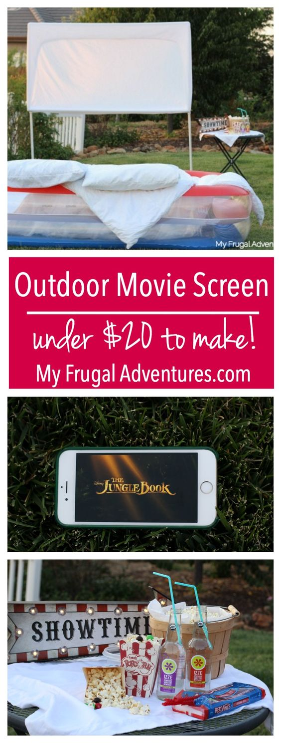 How to Build An Outdoor Movie Screen- so simple and about $20 to make!  Easy…