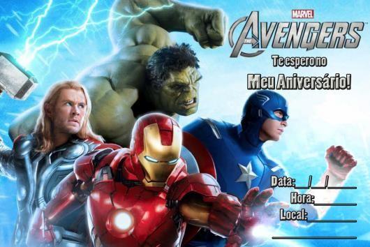Convite Vingadores 60 Ideias Incriveis Modelos Para Imprimir