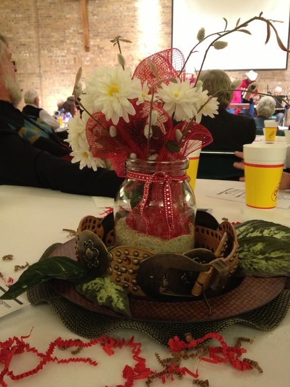 Country western centerpiece centerpieces pinterest