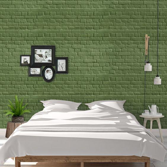 Textura ladrillo verde - FOTOMURALES