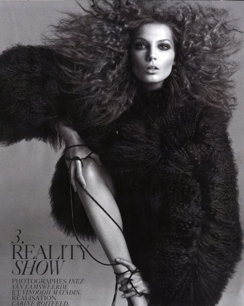 Daria Werbowy editorial Reality Show Vogue France