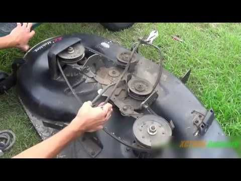 Replacing The Deck Belt On An Old Style 42in Craftsman Mower Youtube Craftsman Riding Lawn Mower Lawn Mower Repair Lawn Mower Maintenance