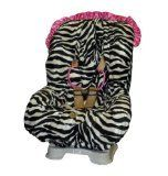 Baby Bella Maya Toddler Car Seat Cover in Zoe Zebra with Pink Ruffle *** Read more at the image link.