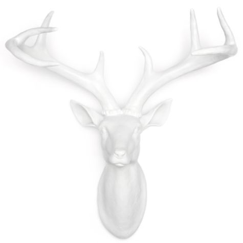 """Deer Head - Small 15.75"""" from Z Gallerie....great price..white resin"""