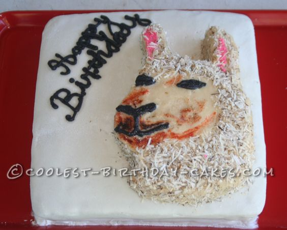 Coolest Llama Birthday Cake... This website is the Pinterest of birthday cake ideas