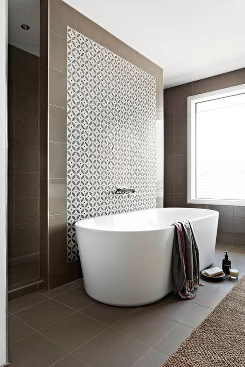 Tub In Front Of Shower Small Bathroom Free Standing Bath Tile Bathroom