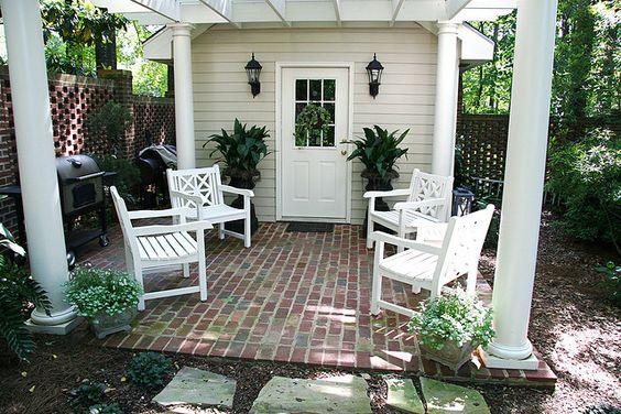 Brinker Garden - shed cooking/sitting area, via Flickr.