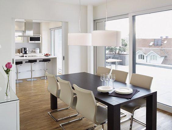Schiebetüre zur Küche u2026 Pinteresu2026 - offene küche wohnzimmer trennen