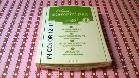 Stempelkissen - Stempelkissen Apfelgrün Stampin Up - Rar! - ein Designerstück von kreativesherzerl bei DaWanda