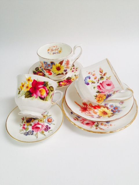 Vintage High Tea Set Menage a Trois