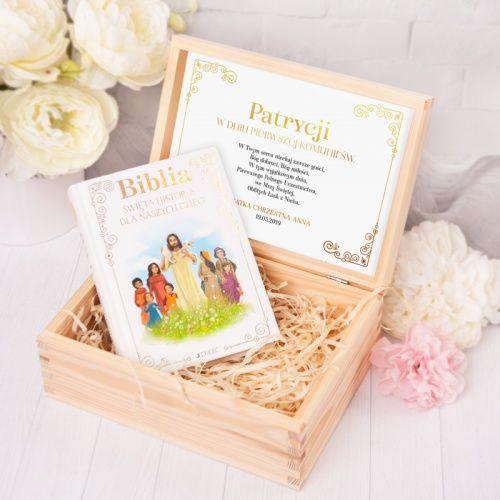 Skrzynka Z Biblia Pamiatka I Komunii Sw Zlote Ornamenty Place Card Holders Card Holder Place Cards