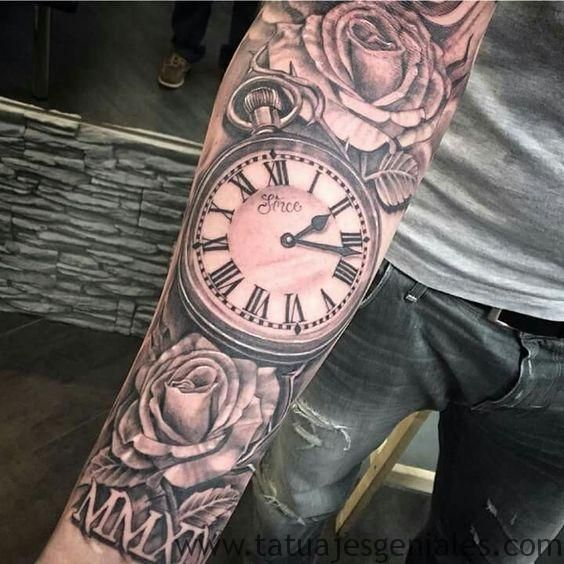 60 Ideas exclusivas de Tatuajes de Relojes y sus tipos