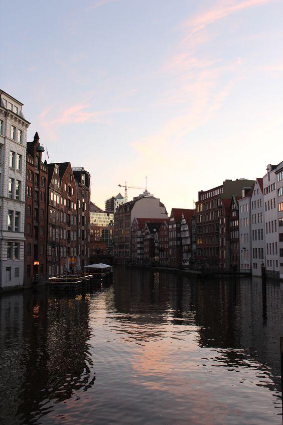 Kanälen der Elbe
