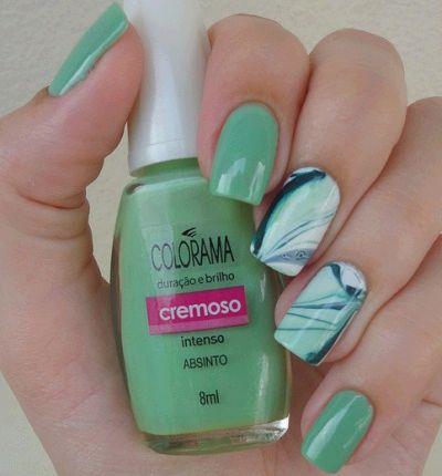 Unhas decoradas verde.: Nailpolish Nails, Nail Art Designs, Nails Hair Makeup, Hair Nailpolishino, Nail Design, Nailart Designs Ll