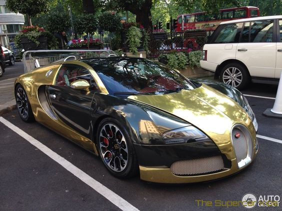 the supercar kids golden bugatti veyron grand sport hits london jordans y. Black Bedroom Furniture Sets. Home Design Ideas