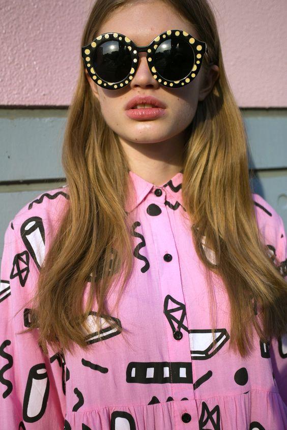 Flip It Shirt Dress & Quay Sunglasses  http://www.lazyoaf.com/lazy-oaf-flip-out-shirt-2