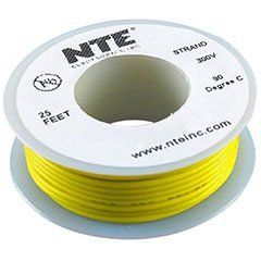 NTE Stranded 24 AWG Hook-Up Wire Yellow 25 ft. by NTE. $4.56. NTE stranded 24 AWG yellow hook-up wire is perfect for point-to-point internal wiring applications.