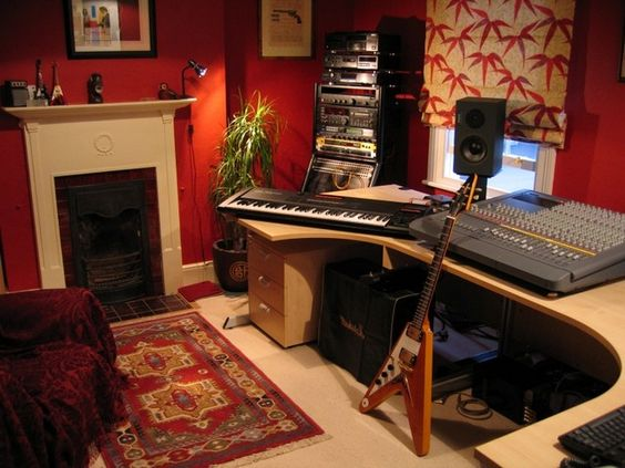 home recording studios studio desk and desks ikea on pinterest. Black Bedroom Furniture Sets. Home Design Ideas