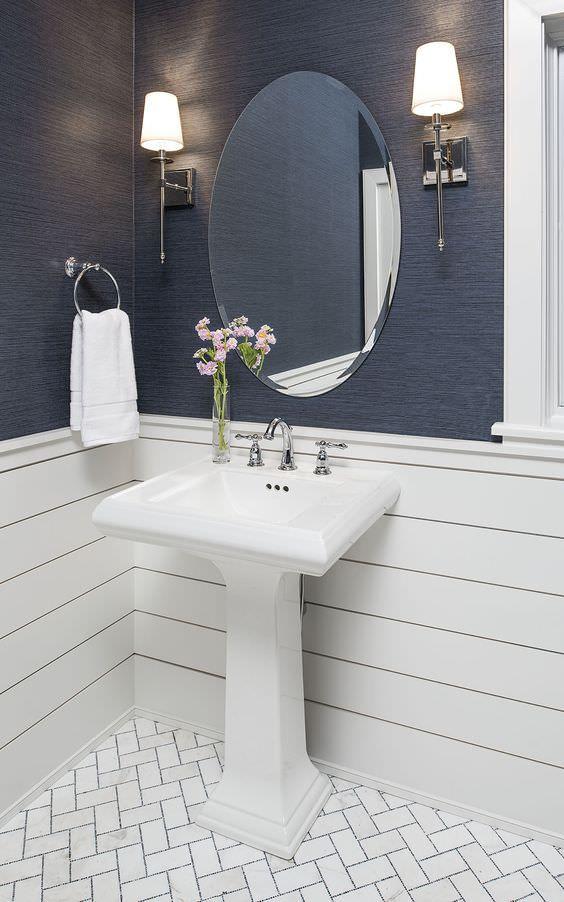 Diy Textured Wallpaper Ideas Not Just For Walls Ohmeohmy Blog Bathroom Mirror Shiplap Bathroom Bathrooms Remodel