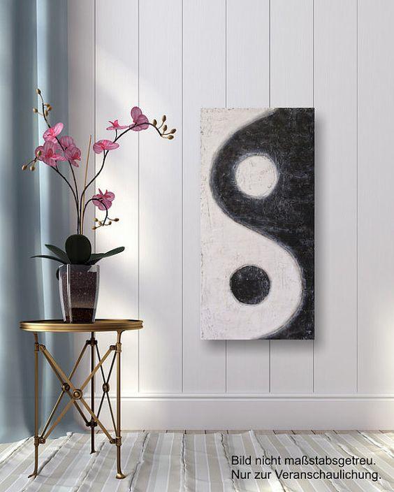 Yin Yang - Original Acrylbild #art #painting  #mixedmedia