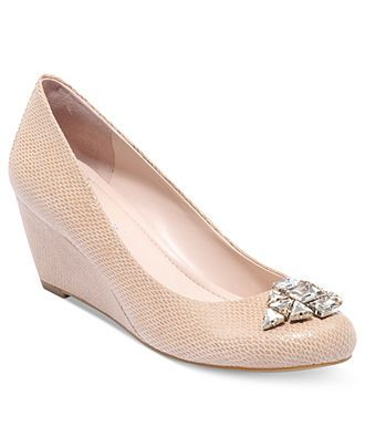 Need nude bridesmaid shoes! BCBGeneration Shoes, Treese Demi Wedge Pumps - Pumps - Shoes - Macy's