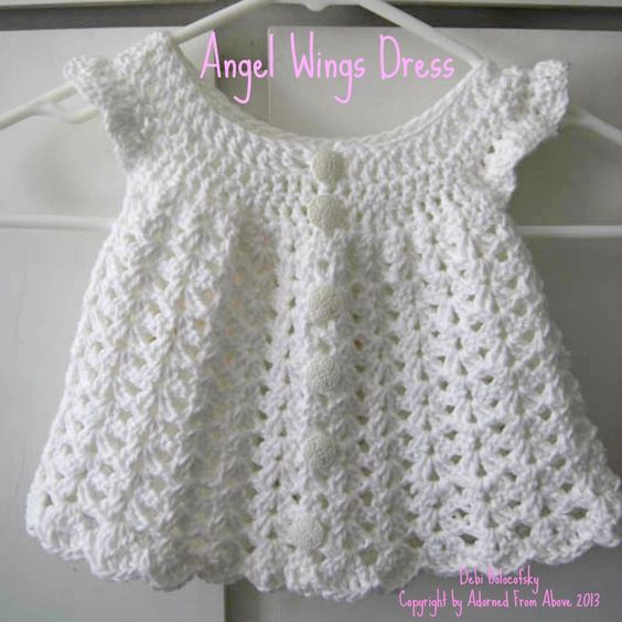 free crochet baby patterns to print crocheted dress ...