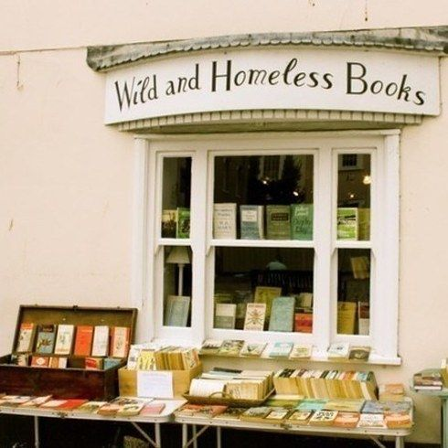Wild and Homeless Books, Dorset | A bookshop named for a Virginia Woolf quote? How delightful. The cutest thing? Customers can leave reviews on their typewriter.