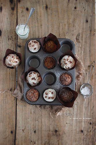 minicakes017 Mini carrot cake, topping à la noix de coco