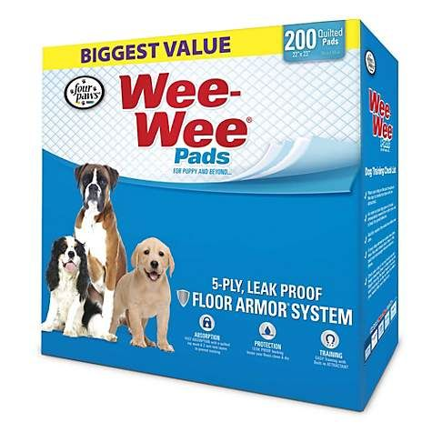 Wee Wee Pads 200 Count Wee Wee Pads Puppy Pads Training Pads