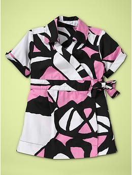 DVF for Gap Kids = LOVE! Such a cute, stylish little wrap dress. A would look so stylish in this!