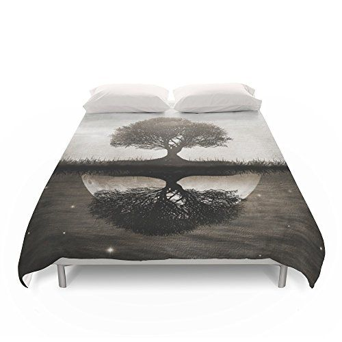 "Society6 The Lone Night Reflex Duvet Covers King: 104"" x…"