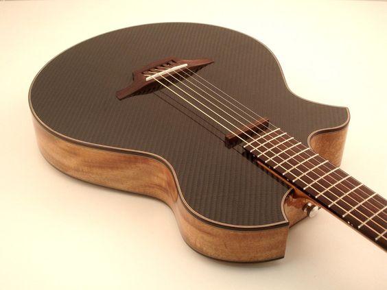 Lukas Brunner guitars. Luthier interview. Carbon Fiber top.