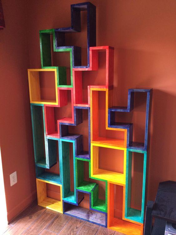 Pinterest the world s catalog of ideas for Tetris bookshelf