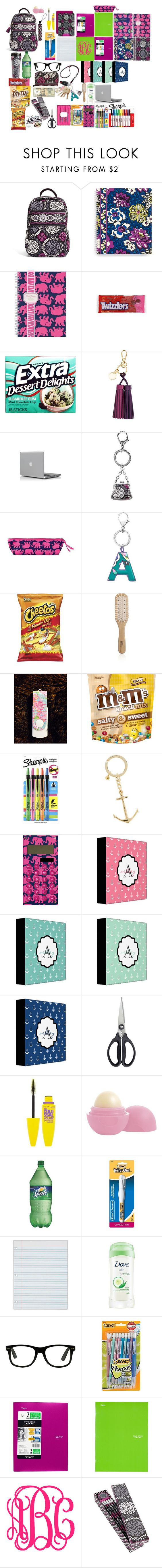 """""""back to school preppy school supplies for teens"""" by turnerjazmyne on Polyvore featuring Vera Bradley, Lilly Pulitzer, H&M, Philip Kingsley, Regatta, Sharpie, J.Crew, OXO, Eos and Wite"""