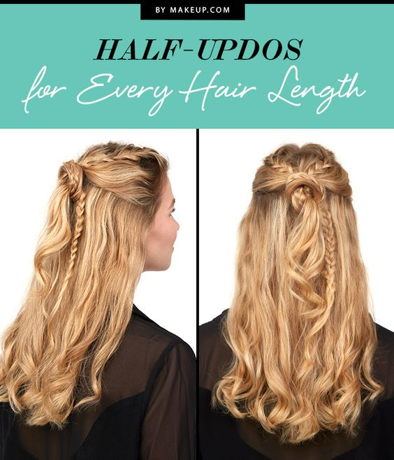 Remarkable Half Updos For Every Hair Length Follow Me Hair Game And The Beauty Hairstyles For Women Draintrainus
