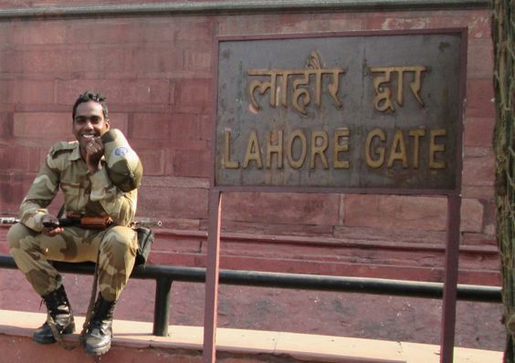 At Lahore Gate in Delhi, India