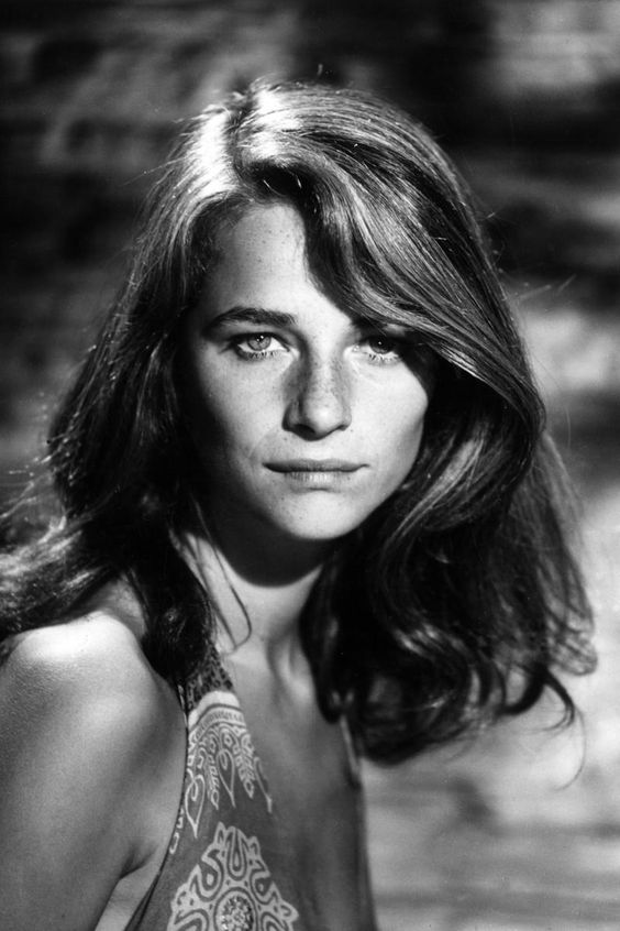Charlotte Rampling - The Cut, female beauty, intense eyes, powerful face, freckles, long hair, beautiful, portrait, photo b/w.
