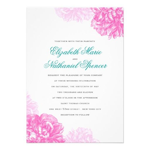 Lush Peonies Wedding Invitation