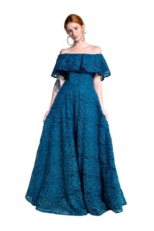 vestido Lilás Azul Claro Cauda | Same no More