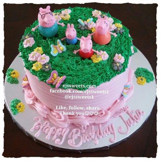 Peppa Pig Buttercream Cake  www.imgarcade.com - Online Image Arcade!