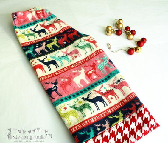 Christmas pajama pants Christmas flannel pants by SilSewingStudio