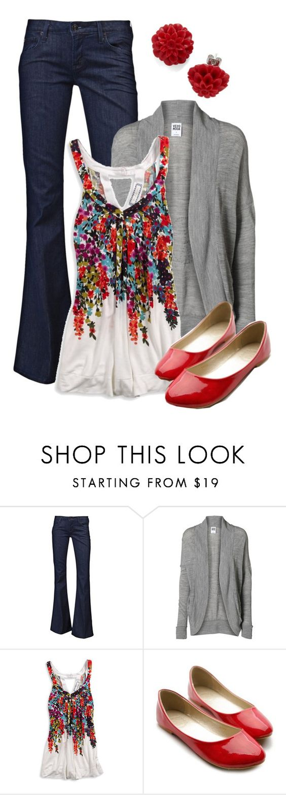 """""""Teacher, Teacher 146"""" by qtpiekelso ❤ liked on Polyvore featuring Hudson Jeans, Vero Moda, American Eagle Outfitters, Ollio, Jeffrey Campbell, women's clothing, women, female, woman and misses"""