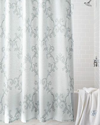 Charisma Adina Shower Curtain Curtains Blue Shower Curtains Shower