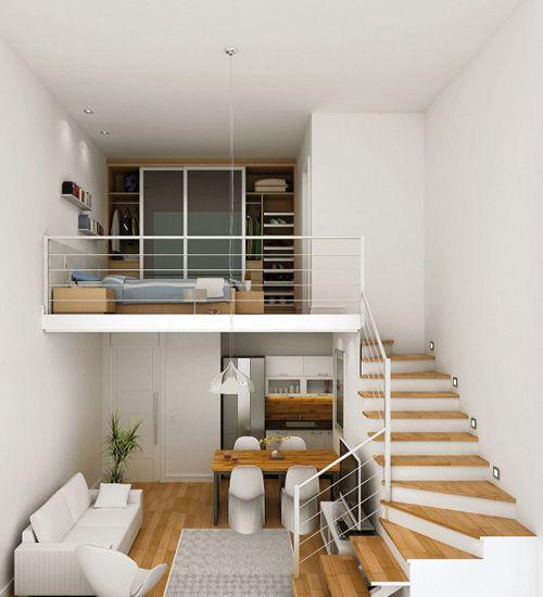 Un Mini Loft à Prague Planete Deco A Homes World Loft Bedroom Decor Small Loft Apartments Home Interior Design