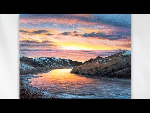 Painting One Of The Best Sunsets I Ve Seen Landscape Landscapes Painting Artlesson Painting Sunset Painting Sunset Painting Acrylic Oil Painting Pictures