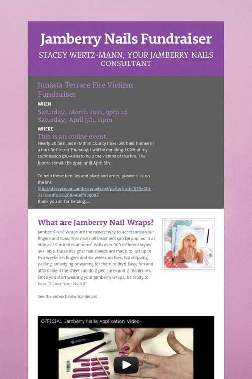 Jamberry Nails Fundraiser