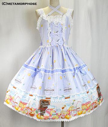 metamorphose temps de fille ピンクレモネードフリルレースジャンパースカート(ミディアム)