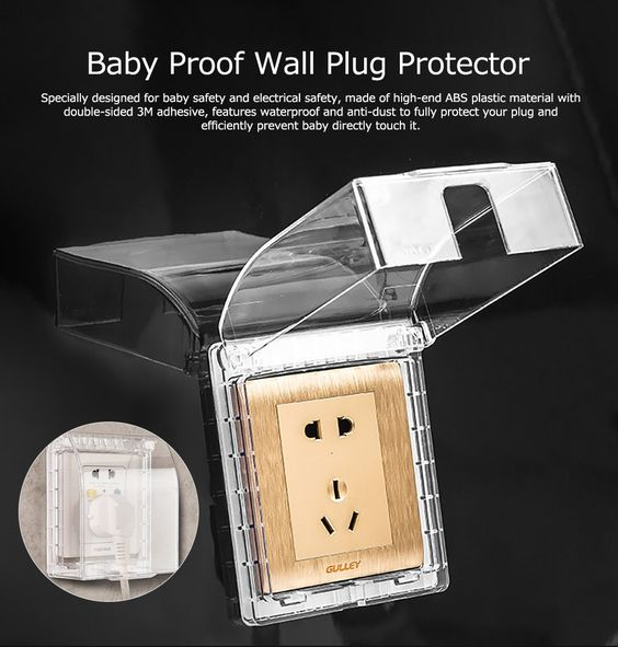 Baby Safety Electric Outlet Case Waterproof Anti-dust Wall Plug Protective Cover