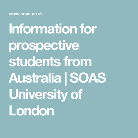 Information for prospective students from Australia | SOAS University of London